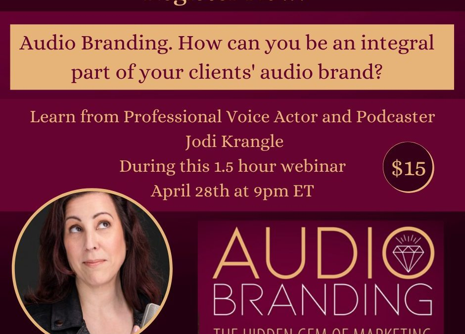 How can you be an integral part of your clients' audio brand?